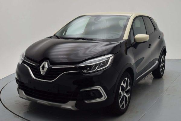 Renault CAPTUR NOUVEAU DCI 90 EDC INTENS MediaNav – Pack City Plus (P. Métallisée Bi-ton) | Noir Toit Gris Platine | Véhicule Zéro KM